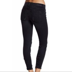 Current Elliott stiletto lace up skinny jeans